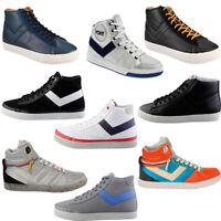 Pony Mens Casual Lace Up Hi Mid Top Synthetic Unisex Adults Assorted Trainers