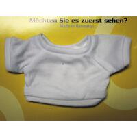 10 x T-Shirt weiß fuer Teddys und Puppen bis 15 cm Restposten Sonderpreis