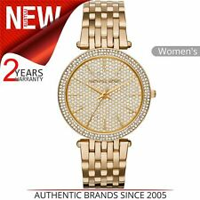 Michael Kors Darci Ladies Watch MK3438¦Crystal Pave Dial¦GoldTone Stainless Band