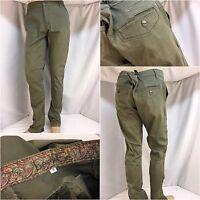 Bevee Pants 38x34 Green 100% Cotton Flat Front EUC YGI 5929