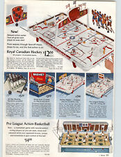 1966 PAPER AD Royal Canadian Hockey Game Master Pro League Basketball