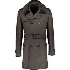 HACKETT Wool Tweed Fur Coat, UK 38 / IT 48 RRP £825