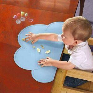 Tischmatte Kinder Silikon Tischdecke Essen Decke Platzmatte Abwaschbar Rosa Blau
