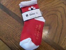 NWT baby Gap girl 2pk of socks white w//multicolor dots /& white//pink stripes; 2-3