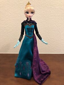 17-inch Doll Elsa Limited Edition Disney Store Frozen Coronation Gown Deboxed