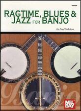 Ragtime Blues & Jazz for Banjo Fred Sokolow 5-String Banjo TAB Music Book