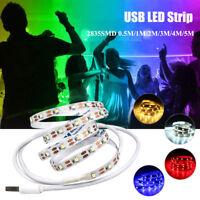 USB LED Strip SMD 2835 5V 0.5M/1M/2M/3M/4M/5M Holiday Light TV Background