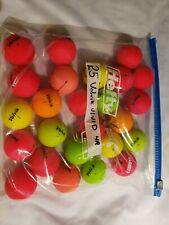 Volvik Vivid 25 used matted golf balls Aaaa Bag G91
