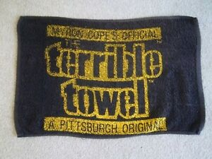 Pittsburgh Steelers Myron Cope's Original Terrible Towel, Vintage 1990's