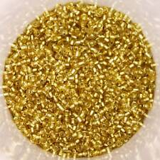 25g 2mm Glass Seed Beads – Gold