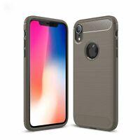Apple IPHONE XR TPU Custodia per Cellulare Fibra Carbonio Ottica Brushed Grigio