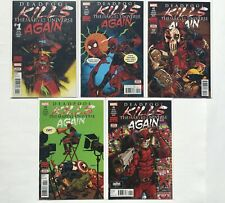Deadpool Kills the Marvel Universe Again 1 - 5 Complete Set 2017 Series NM/NM+