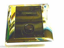 CLIPSAL 240V FUSED SPUR SOCKET BROWN WITH SILVER MIRROR FRAME MOTORHOME BOAT