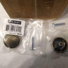 NEW LIBERTY P30071C-ALN-C  1-1/4 Raised Ring Round Cabinet Hardware Knob
