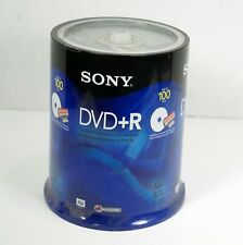 SONY DVD + R 120 MIN 4.7GB 1-16X ACCUCORE 100 PACK NEW Factory Sealed Printable