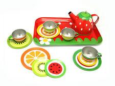 Kaper Kidz Children's Pretend Play Fruit Themed Tin Tea Set! 15pcs