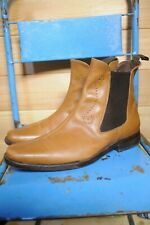 Samuel Windsor Chelsea Boots Tan Brown Leather UK 9.5 FIT UK 10