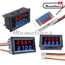 Dc 100v200v 34 Bits Voltmeter Ammeter Dual Led 10a50a Digital Volt Amp Meter