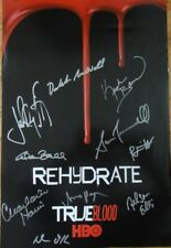 SDCC EXCLUSIVE HBO WB TRUE BLOOD CAST SIGNED POSTER x10 SAN DIEGO COMIC-CON