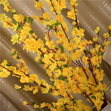 50''Artificial Cherry Spring Plum Peach Blossom Branch Silk Flower Tree Decor BG