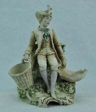 German early 1900's bisque figural planter with man. (BI#MK/0317.TMP)