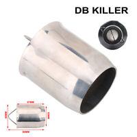 60mm Universal Beehive Motorcycle Exhaust Pipe DB Killer Muffler Insert Silencer