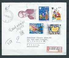BELGIQUE - LETTRE - 1969 YT 1492 à 1495 et 1499