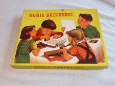 Noris Druckerei Stempelkasten 60er Jahre Spielzeug