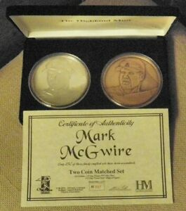 MARK MCGUIRE ST LOUIS CARDINALS HIGHLAND MINT COIN 6 OZT .999 SILVER ROUND 1/250