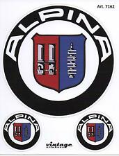 3 ADESIVI LOGHI STEMMI BADGE ALPINA x BMW E34 E36 E46 E39 E53 E60 E90 E92