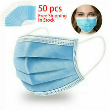 50pc Anti-Haze Protect Breathable Safety Anti Saliva Non-Woven Face Cover STOCK