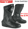 NEW Dririder STEALTH motorcycle boots WATERPROOF rrp$249!  Road Race