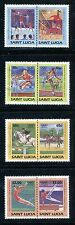 St. Lucia 665-668, MNH, Olympics Los Angeles-1984 Judo, Weight lifting, x27877