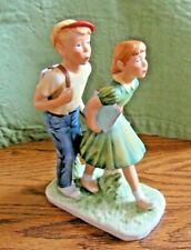 Gorham Figurine Inspired by Norman Rockwell A Day in the Life of a Boy 1952/1981