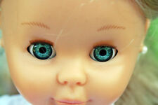 Ojos para muñeca 22 mm azul reborn bjd ooak dollfie manualidades nancy