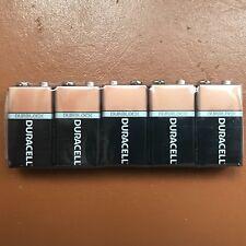 5 x Duracell 9V Alkaline Batteries Plus Duralock CopperTop PP3 LR22 MN1604 ALARM