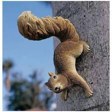 Tree Climbing Squirrel Garden Statue Life Size Wall Sculpture