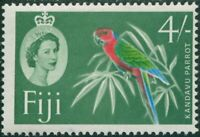 Fiji 1962 SG321 4/- green Red Shining Parrot yellow-green QEII MNH