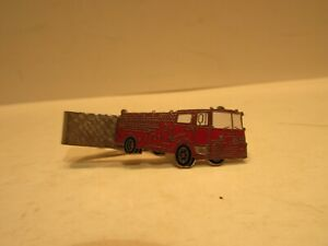 Mack Firetruck Tie Clasp 1 3/4 Inches Long Red Fire Truck Firefighting & Rescue