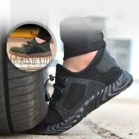 UK MENS SAFTY Sneakers TRAINERS LACE UP MESH CASUAL SPORTS SHOES BREATHABLE Gym