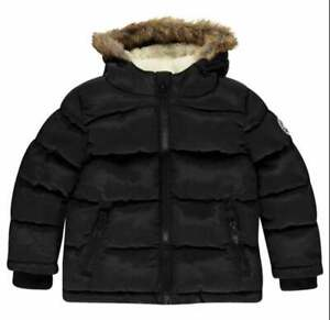 SOULCAL&CO Puffer Jacket Women's Black Padded Bubble Puffa Coat Size UK 18 BNWT
