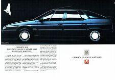 PUBLICITE ADVERTISING 017  1990  la Citroen XM ( 2pages) élue voiture année