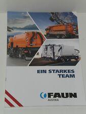 FAUN AUSTRIA Müllwagen, Straßenkehrmaschinen Prospekt von 09/2019 ( 6069 )