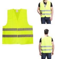 10 Stück Warnweste Reflektor Unfallwesten Neon Gelb Verkehrssicherheit KFZ Weste