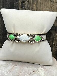 Barse Mirador Bracelet- African Opal & Lime Turquoise- Bronze- NWT