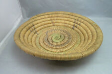 """Native American Weave Tray Bowl. Very Nice Design. Approx 2.5"""" T & 11"""" D"""