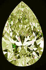 3.00 ct vs1/OFF WHITE YELLOW LOOSE PEAR REAL MOISSANITE 4 RING/PENDANT