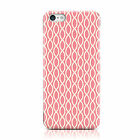 CREAM WAVE DNA STYLE PATTERN PINK CASE COVER FOR APPLE IPHONE MOBILE PHONES