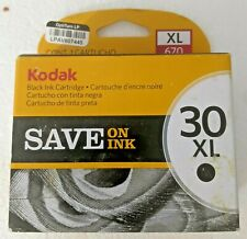 NEW KODAK Ink 30XL BLACK INK CARTRIDGE 55O PAGES Sealed Box