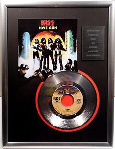 "KISS - Love Gun 7"" Platin Schallplatte Casablanca Record ( goldene )"